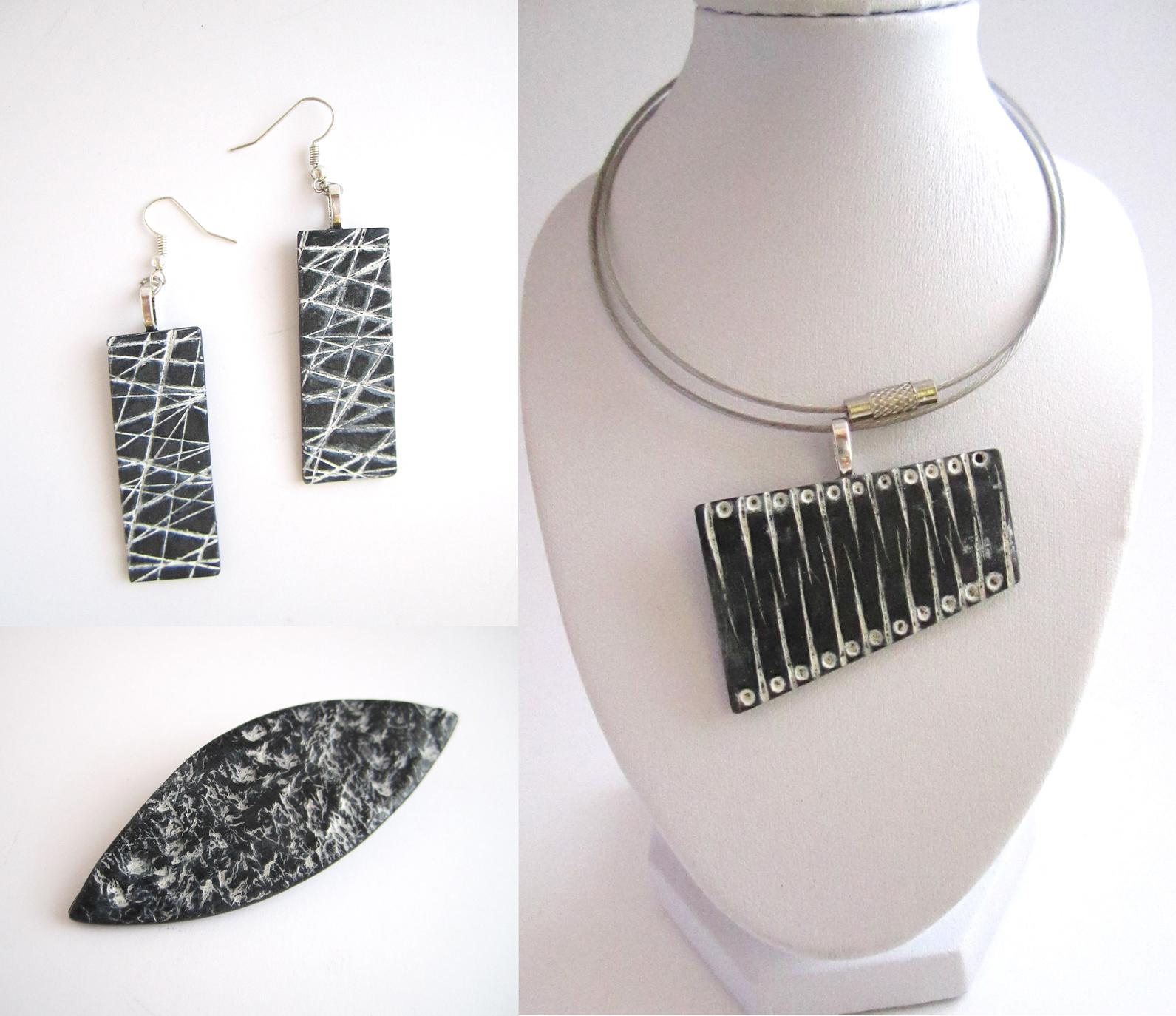 Collier fimo mixmania for Peinture couleur argent pour bijoux